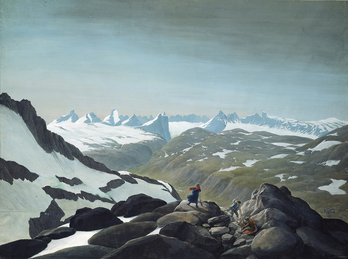 Men in the middle of the Norwegian mountains