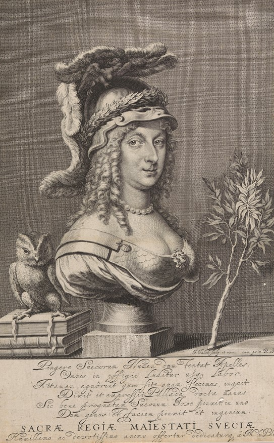 Queen Christina as Minerva. Credit: National Museum of Norway