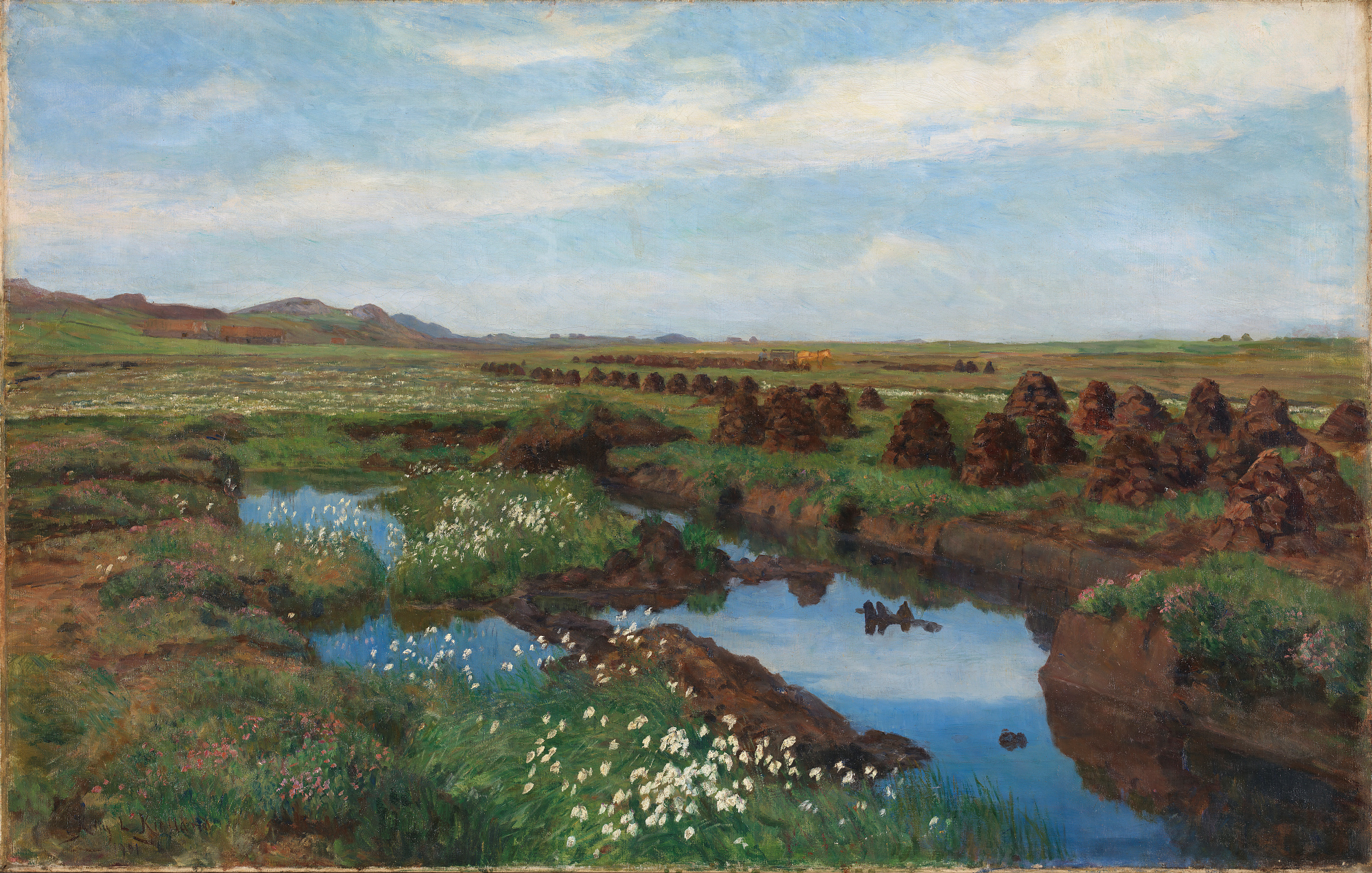 Painting of peat bog
